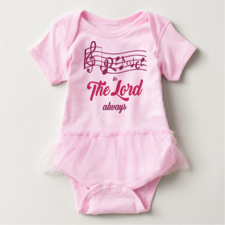 Baby Rejoice in The Lord Baby Bodysuit