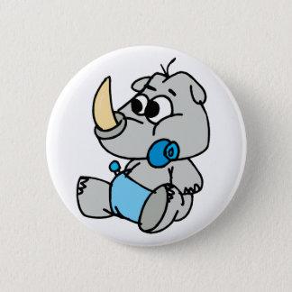 Baby Rhino 6 Cm Round Badge