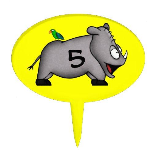 Baby Rhino Cake Picks