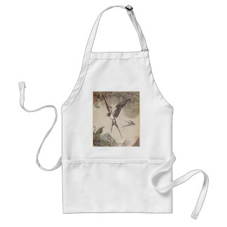 Baby Riding Sparrow, Andersen's Fairy Tales Aprons