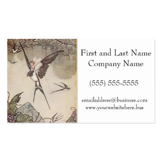 Baby Riding Sparrow, Andersen's Fairy Tales Pack Of Standard Business Cards