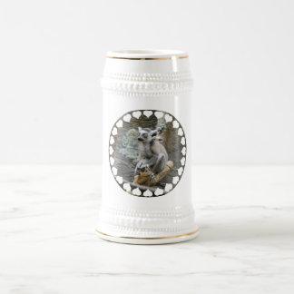 Baby Ringtailed Lemur  Beer Stein Mug