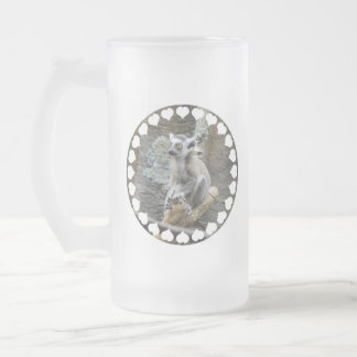 Baby Ringtailed Lemur Frosted Beer Mug