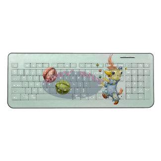 BABY RIUS CARTOON  Wireless Keyboard