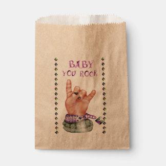 BABY ROCK MUSIC  CARTOON  bag Kraft Favor Favour Bags