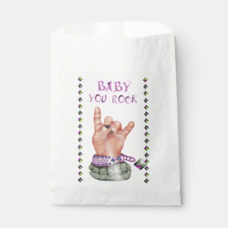 BABY ROCK MUSIC  CARTOON  bag White Favor