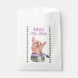 BABY ROCK MUSIC  CARTOON  bag White Favor Favour Bags