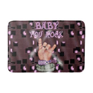 BABY ROCK MUSIC CARTOON Bath Mat MEDIUM