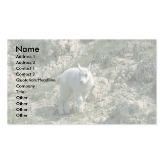 Baby Rocky Mountain Goat Business Card Templates