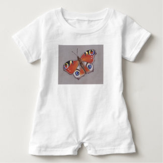 Baby Rom-pa with Peacock Butterfly Design Baby Bodysuit