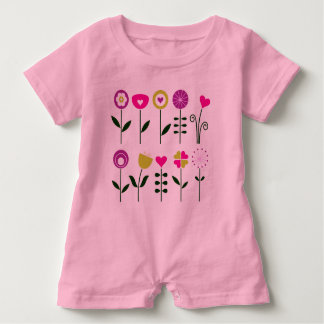 Baby Romper creative Kids outfit with Flowers Baby Bodysuit
