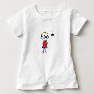 BABY ROMPER - CURIOUS LITTLE BOY BABY BODYSUIT