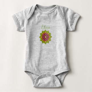 Baby Romper Mandala and Name Personalize it! Baby Bodysuit