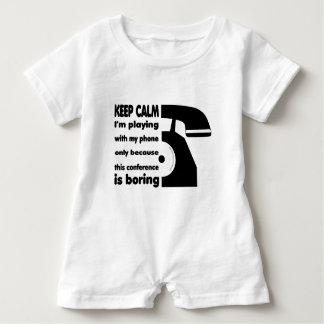 Baby Romper Phone Keep Calm Baby Bodysuit