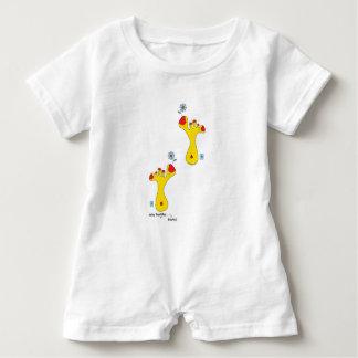 Baby Romper suit, baby buddha foot(s), 414 Baby Bodysuit