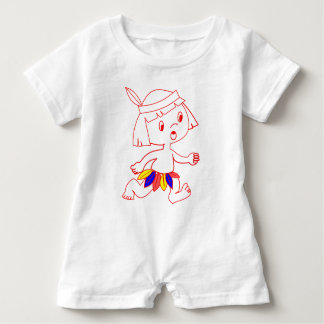 Baby Romper with cartoon Indian boy Baby Bodysuit