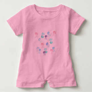 Baby romper with jellyfishes baby bodysuit