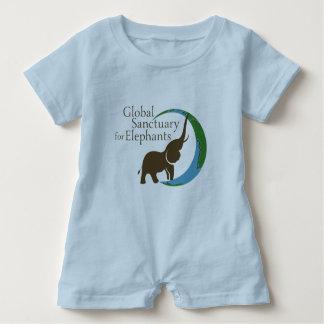Baby romper with logo baby bodysuit