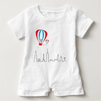 Baby Romper with World skyline Baby Bodysuit