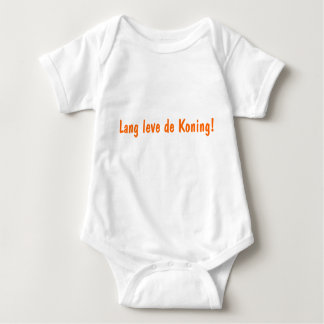 Baby rompertje with text long leve the Koning' Baby Bodysuit