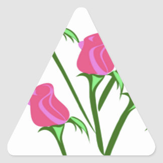 baby roses triangle sticker