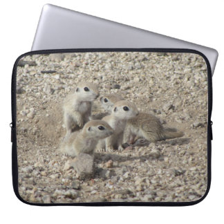 Baby Round-tailed Ground Squirrel Family Computer Sleeve