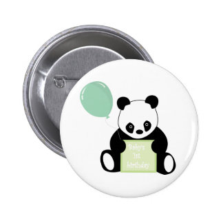 Baby s 1st birthday cute panda bear button pin