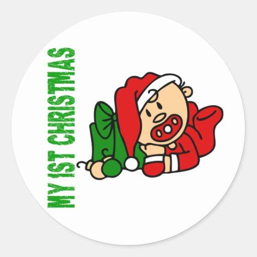 Baby's 1st Christmas BOY Sticker