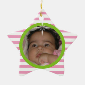 Baby's 1st Christmas Custom Ceramic Star Ornament