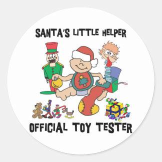 Baby s 1st Christmas Santa s Little Helper Round Sticker