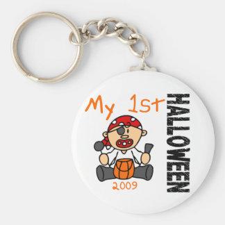 Baby's 1st Halloween 2009 Pirate BOY Basic Round Button Key Ring