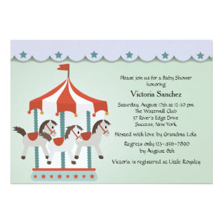 Baby s Carousel Invitation