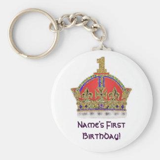 Baby s First Birthday Keychain
