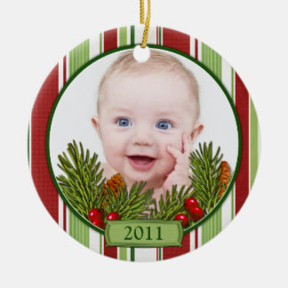 Baby s First Christmas Candy Stripes Ornament
