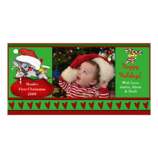 Baby s First Christmas Photo Card