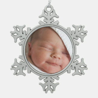 Baby s First Christmas Photo Snowflake Ornament
