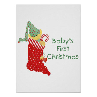 Baby s First Christmas Poster