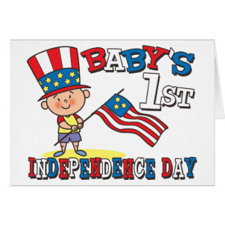 Baby s First Independence Day Greeting Cards