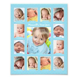Baby s First Year Photo Keepsake Collage Print
