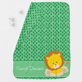 Baby Safari Animals   Lion   Personalized Buggy Blankets
