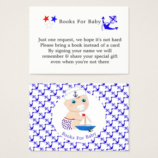 Baby Sailor Nautical Baby Shower Books For Baby Business Card