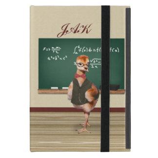 Baby Sandhill Crane as a Teacher, Monogram Cover For iPad Mini
