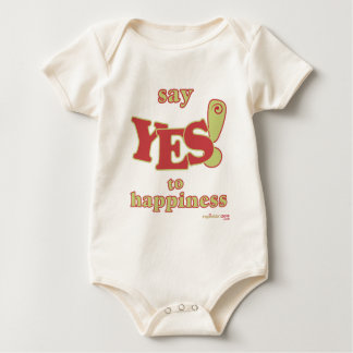 Baby Say Yes to Happiness Outfit Baby Bodysuit