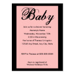 Baby Script Baby Shower Invitation Pink