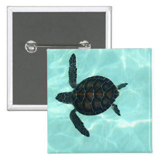 Baby Sea Turtle 15 Cm Square Badge