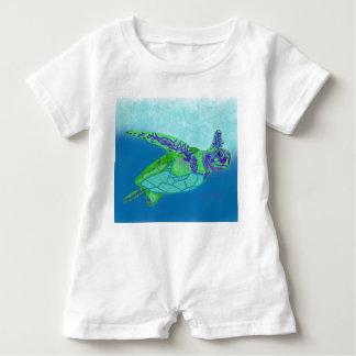 Baby Sea Turtle romper Baby Bodysuit