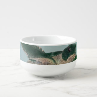 Baby Sea Turtle Soup Bowl With Handle