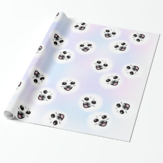 Baby Seal face wrapping paper super cute