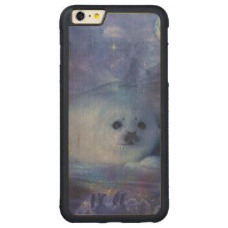 Baby Seal on Ice - Beautiful Seascape Carved® Maple iPhone 6 Plus Bumper Case