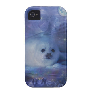 Baby Seal on Ice - Beautiful Seascape Case-Mate iPhone 4 Covers